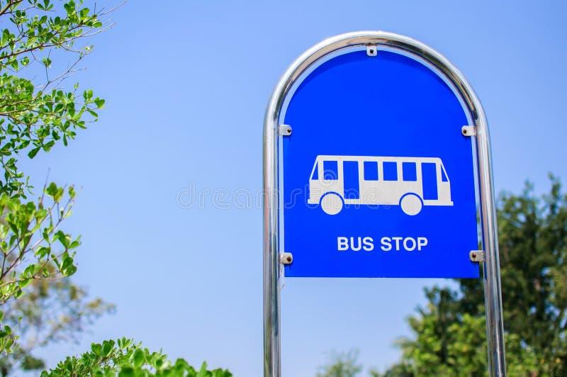 Signe d'arrêt d'autobus photographie stock libre de droits