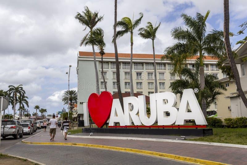 Signe d'Aruba du coeur i photo libre de droits
