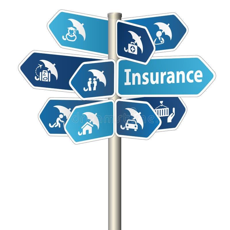Signe d'assurance illustration de vecteur