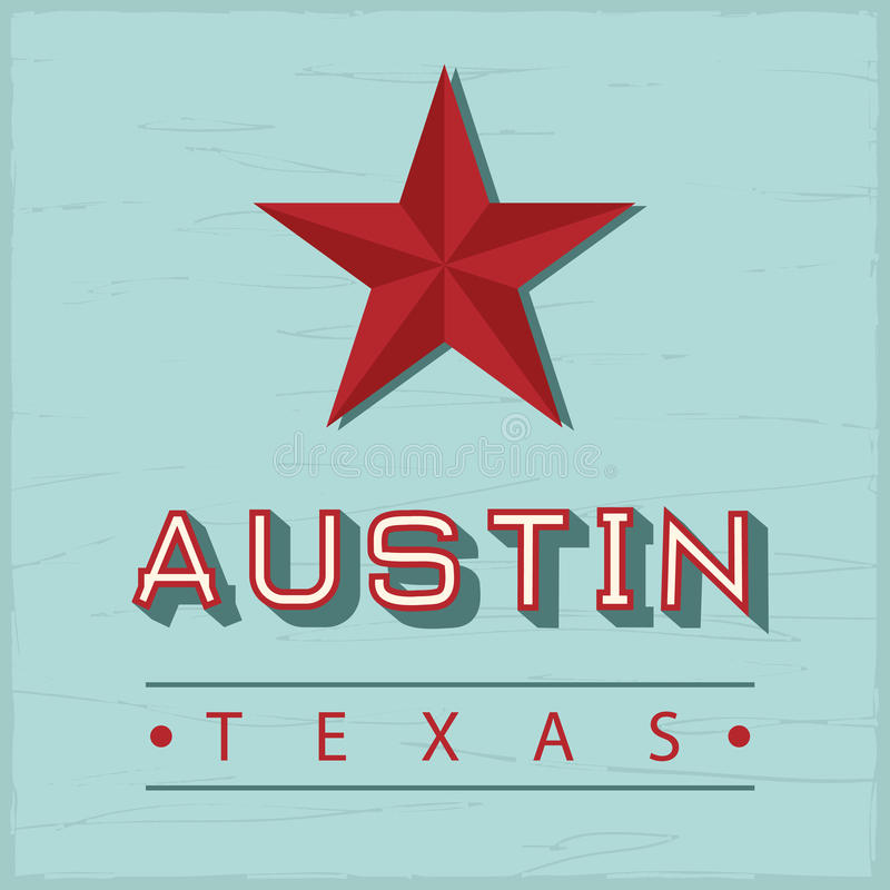 Signe d'Austin Texas illustration stock