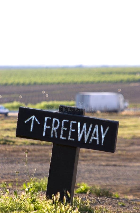 Signe d'autoroute photos libres de droits