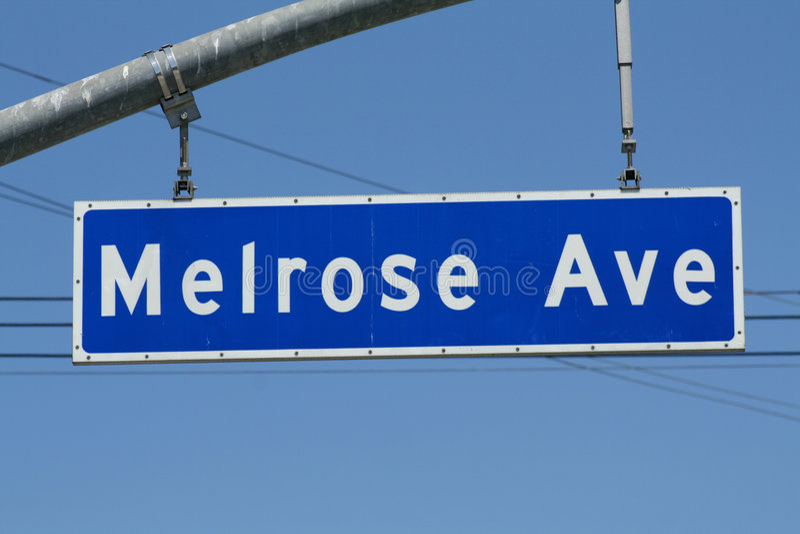 Signe d'avenue melrose photo stock
