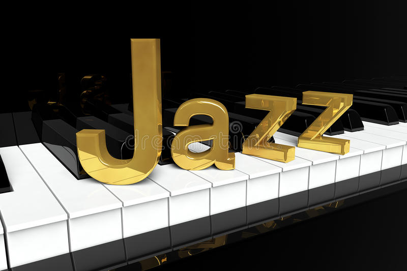 Signe d'or de jazz illustration stock