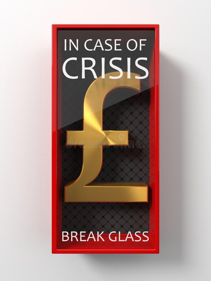 Signe d'or de livre pour l'utilisation en cas de crise, illustration 3d illustration de vecteur