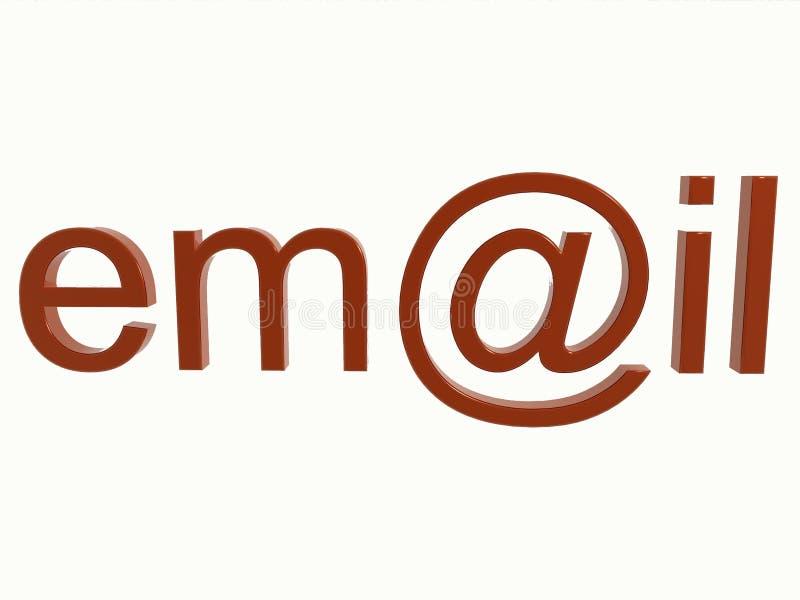 Signe d'email d'isolement illustration de vecteur