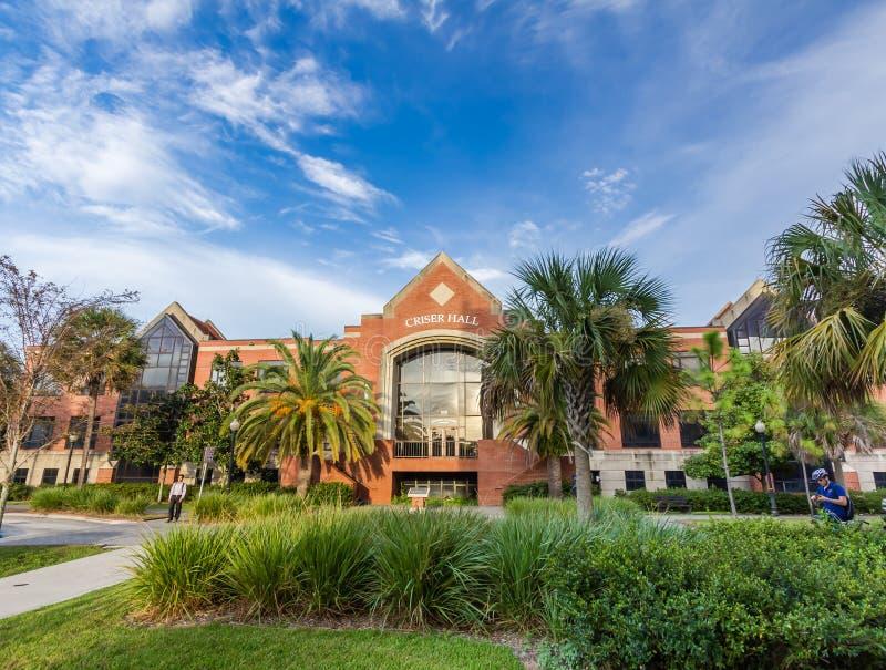 Signe d'entrée à l'université de la Floride photographie stock libre de droits