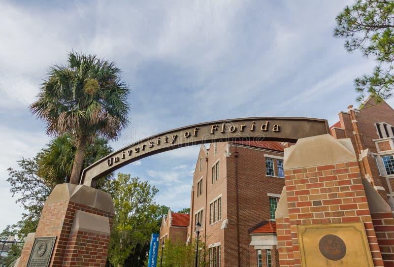 Signe d'entrée à l'université de la Floride image stock