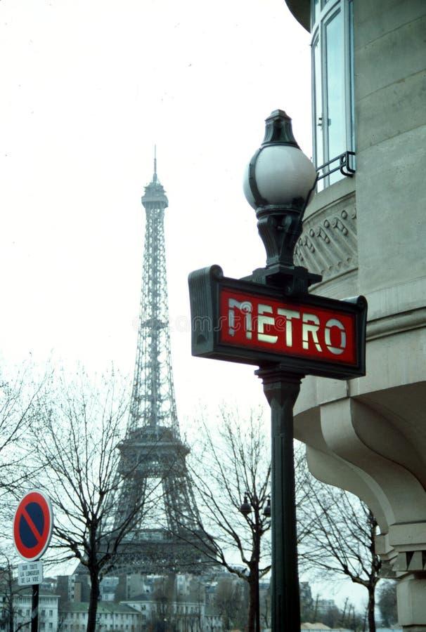 Signe d'entrée de métro image libre de droits