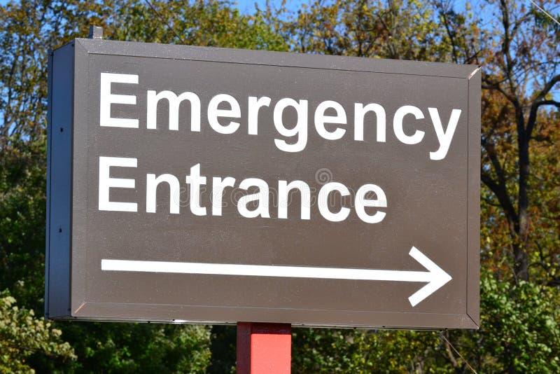Signe d'entrée de secours images stock