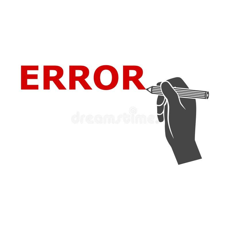 Signe d'erreur, message d'erreur, icône simple de vecteur illustration libre de droits