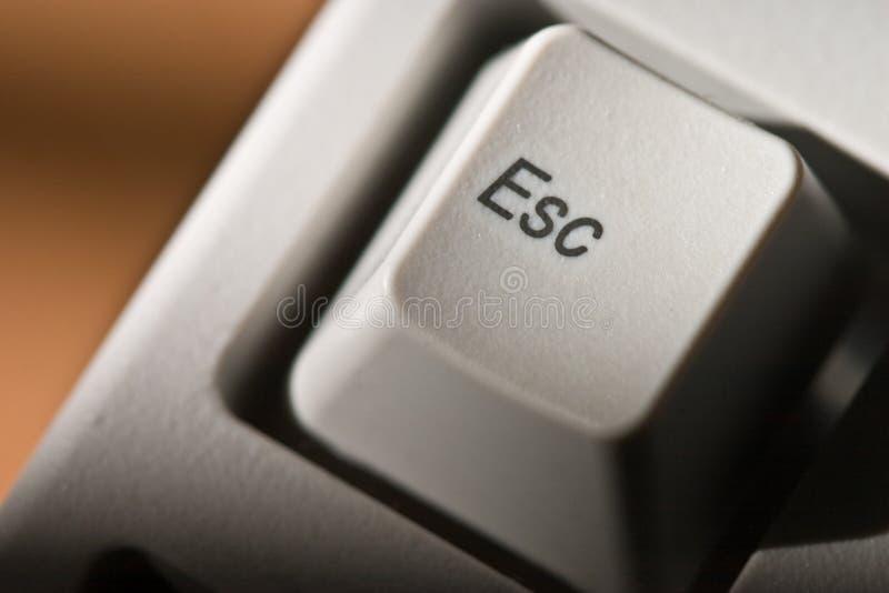 Signe d'ESC image stock