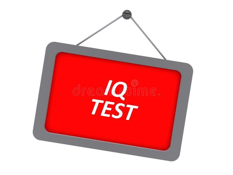 Signe d'essai de QI illustration libre de droits