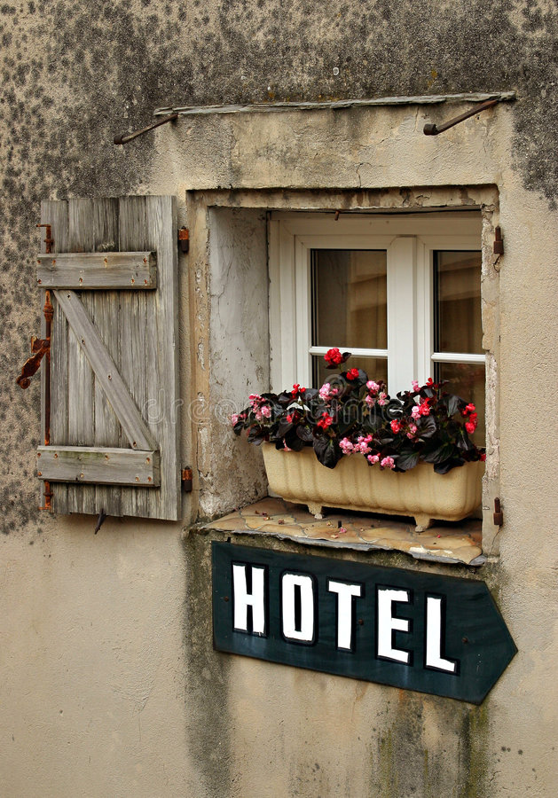 Signe d'hôtel photo stock