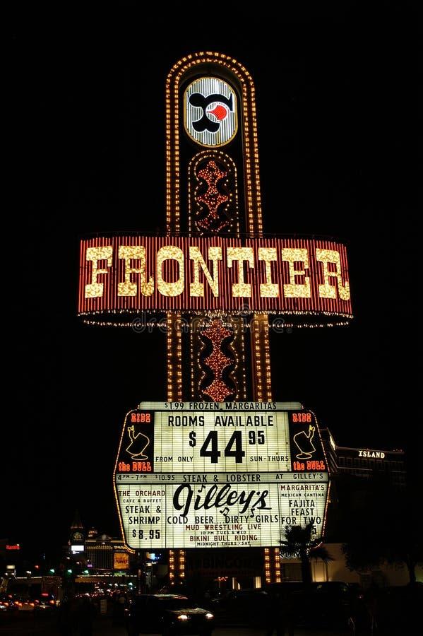Signe d'hôtel de frontière photographie stock libre de droits