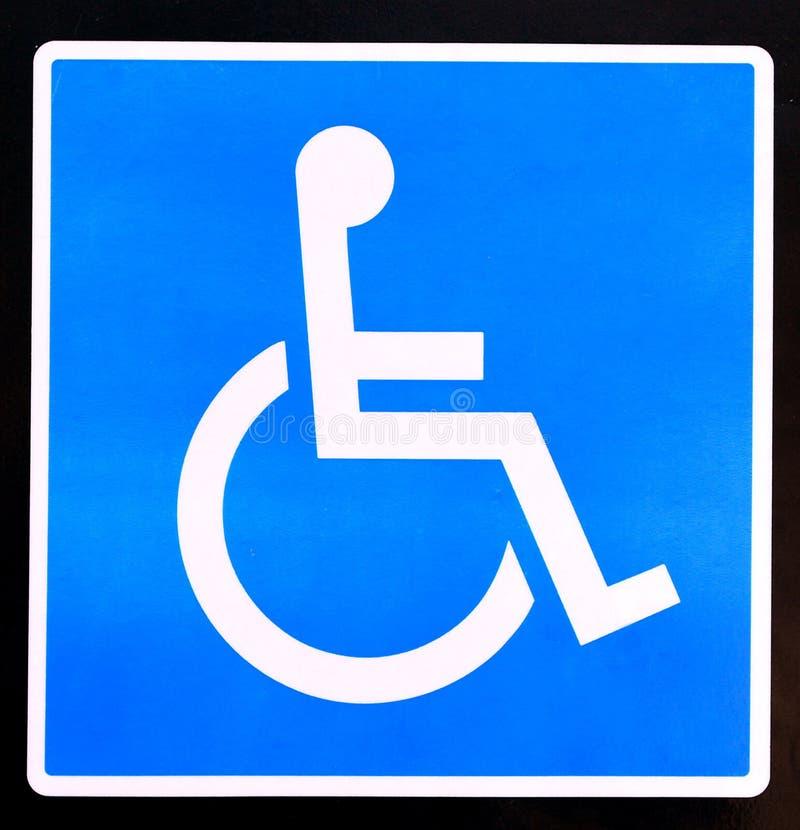 Signe d'handicap images stock