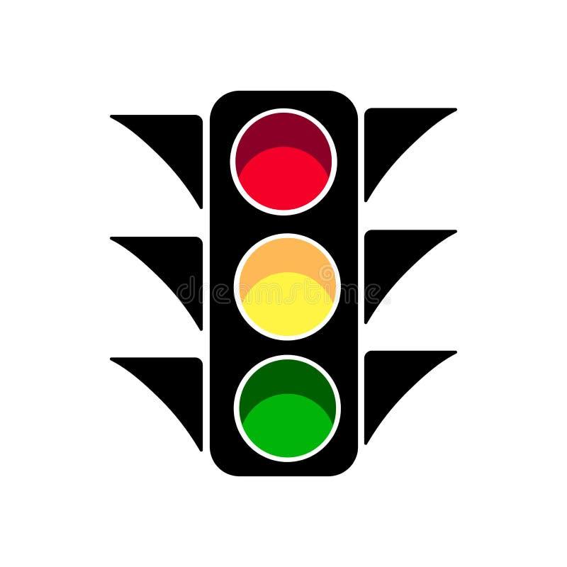 Signe d'icône de feu de signalisation illustration stock