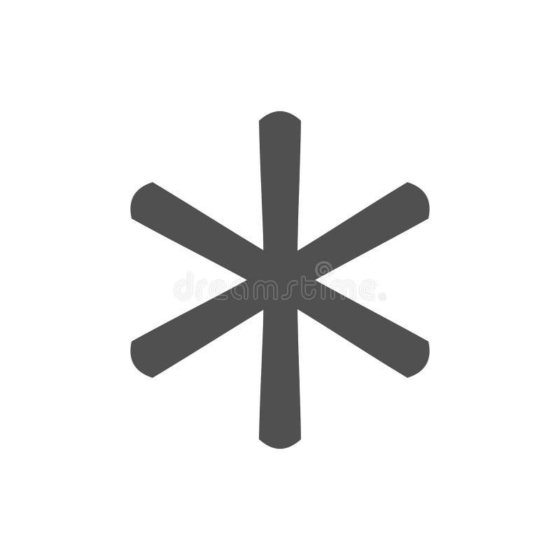 Signe d'icône de note de bas de page d'astérisque illustration de vecteur
