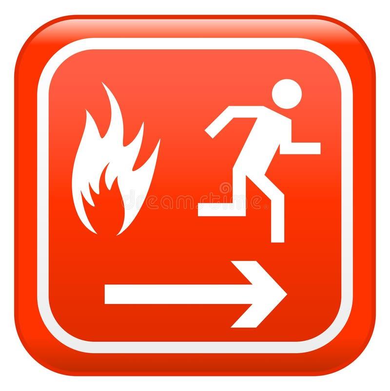 Signe d'incendie rouge illustration libre de droits