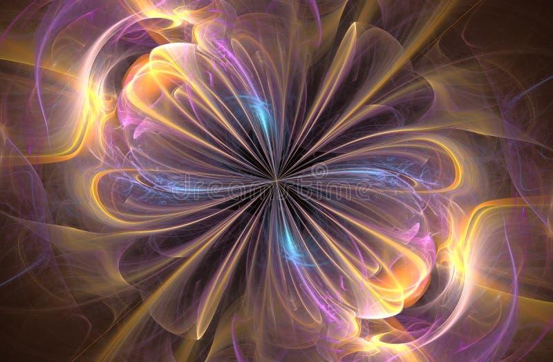 Signe d'infini, fractale générée par ordinateur illustration de vecteur