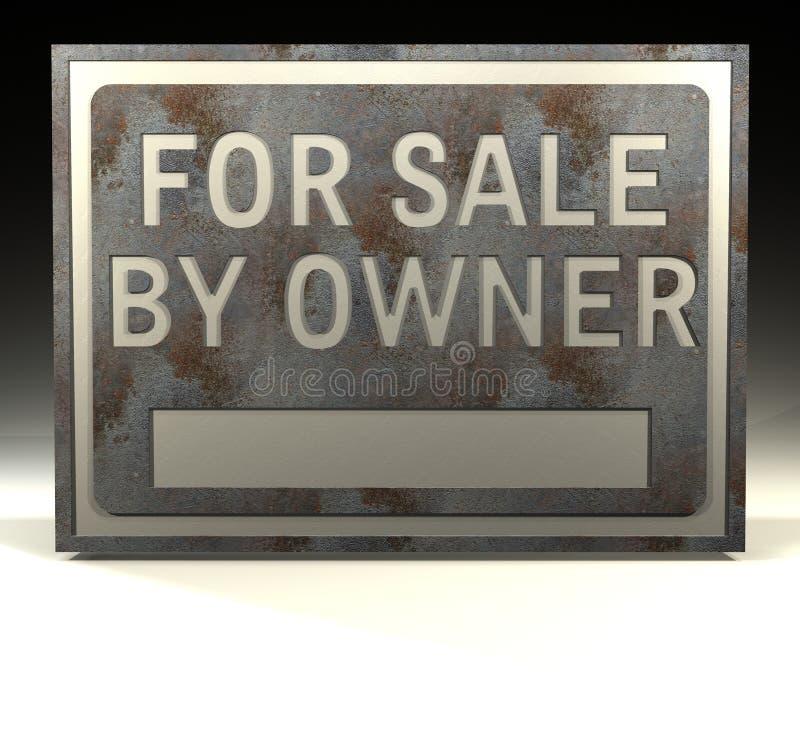 Signe d'information à vendre le propriétaire illustration de vecteur