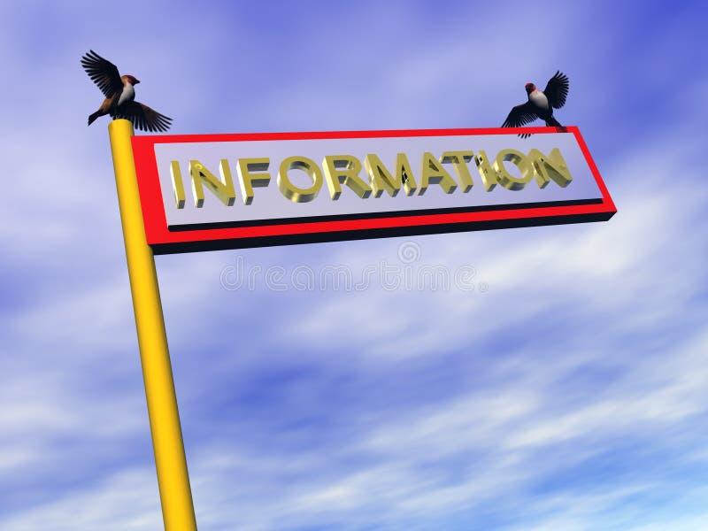 Signe d'information, l'information. illustration stock
