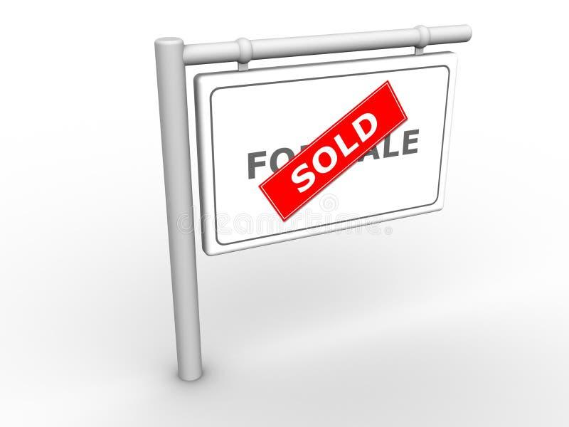 Signe d'information vendu illustration libre de droits