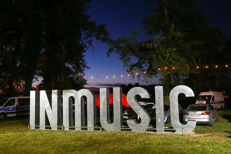 Signe d'INmusic photographie stock