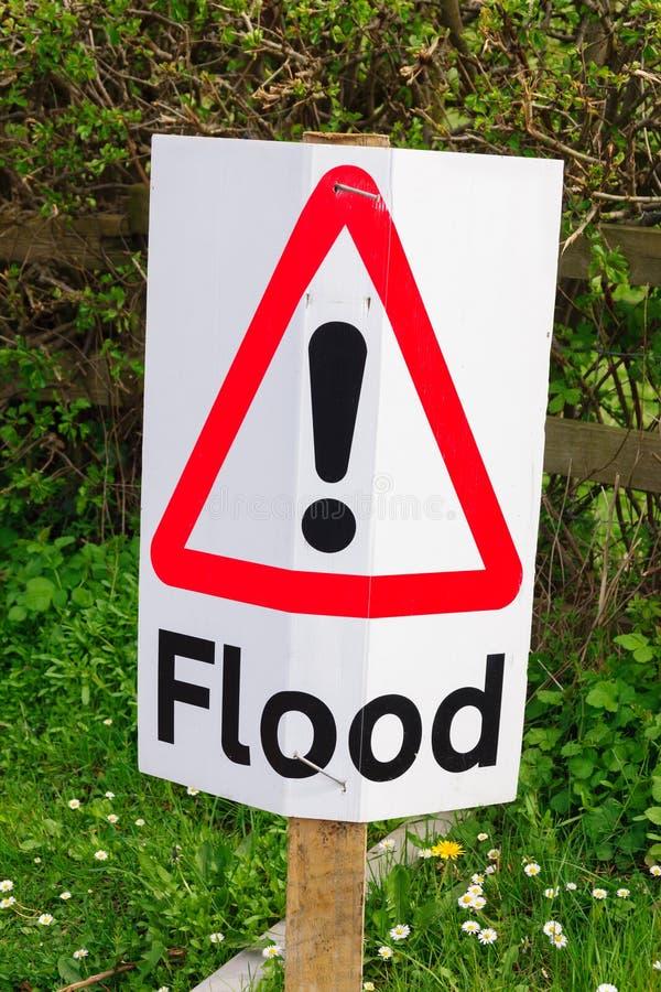 Signe d'inondation photographie stock libre de droits
