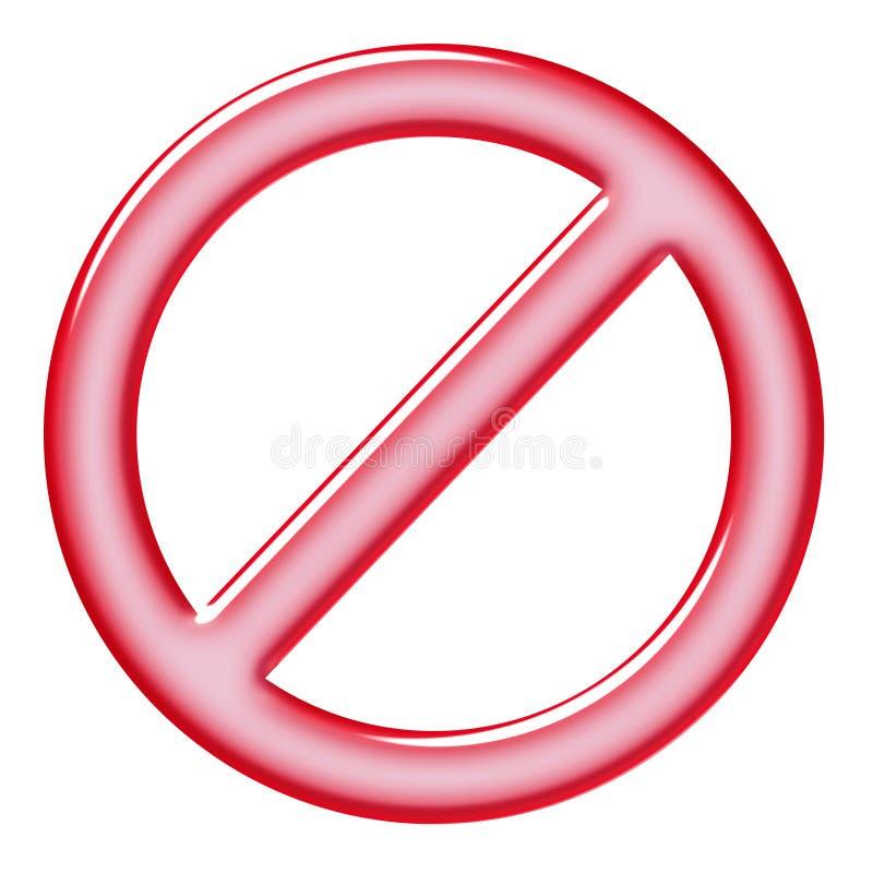 Signe d'interdiction illustration stock
