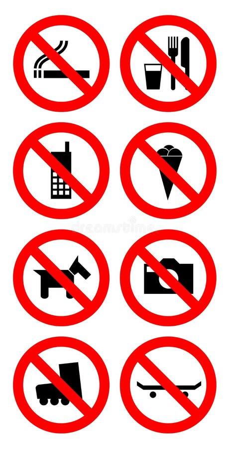 Signe d'interdiction illustration de vecteur