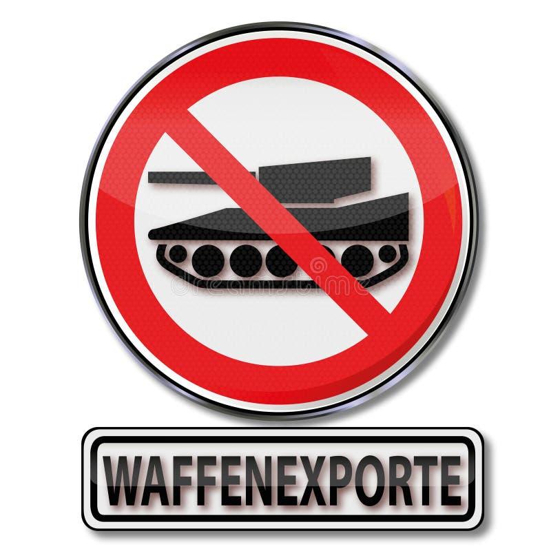 Signe d'interdiction pour des exportations de bras illustration de vecteur