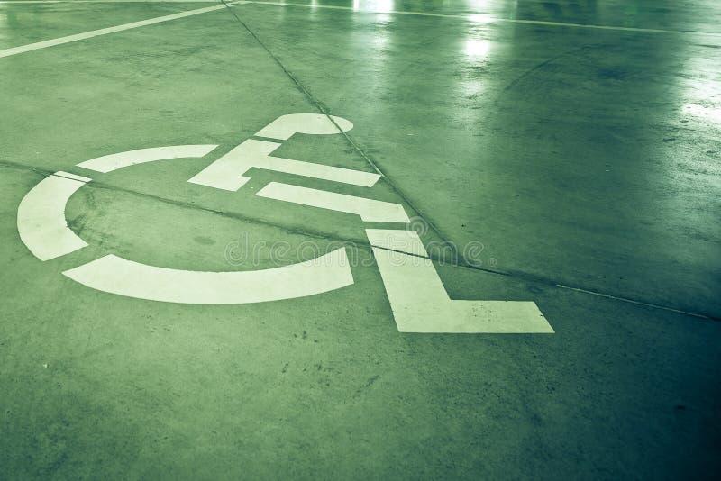 Signe d'invalidité photos stock