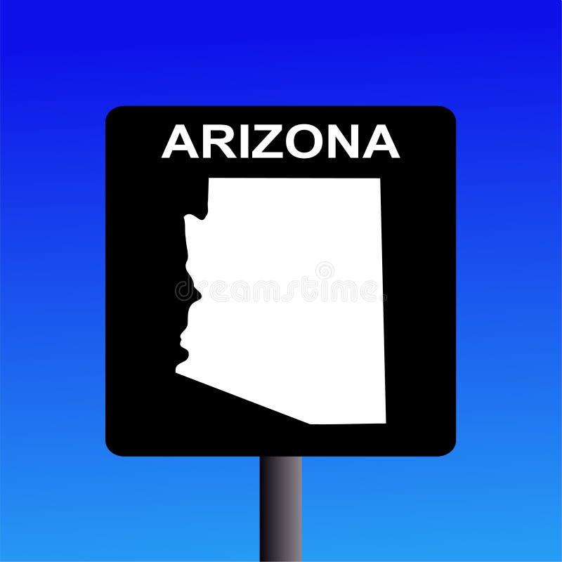 Signe d'omnibus de l'Arizona illustration stock