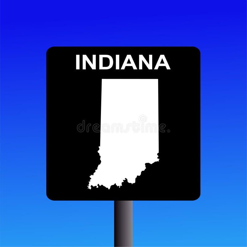 Signe d'omnibus de l'Indiana illustration de vecteur