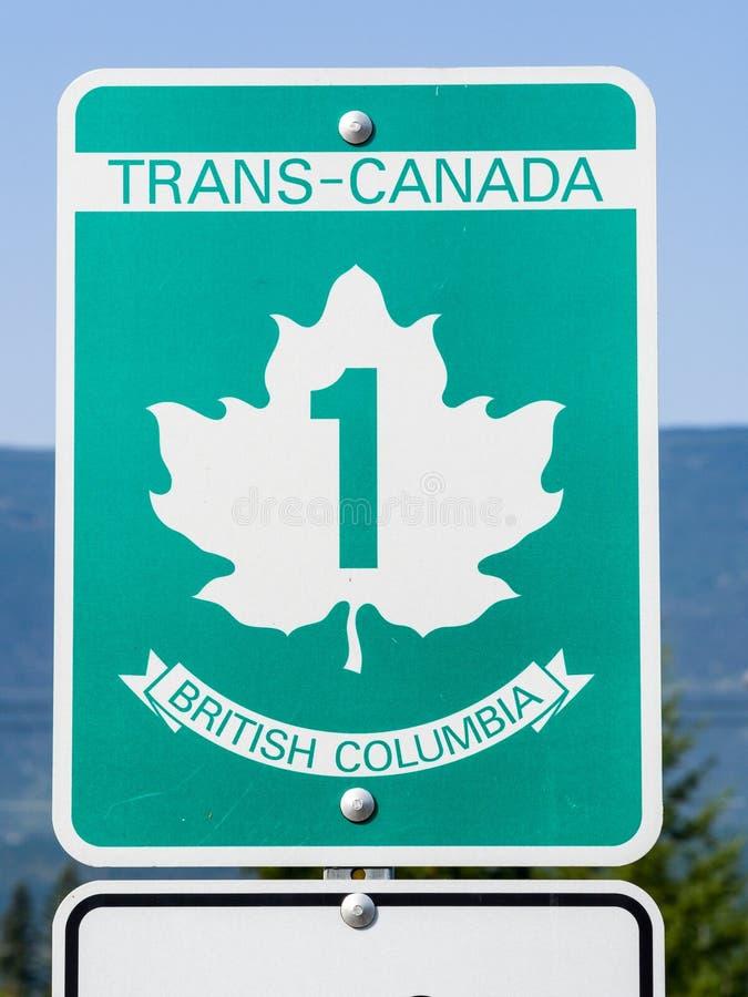 Signe d'omnibus de transport Canada images stock