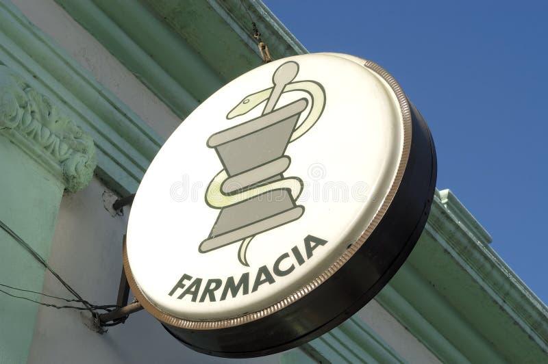 Signe d'une pharmacie images libres de droits