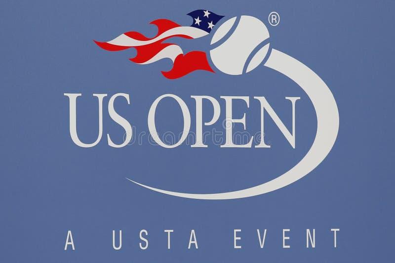 Signe d'US Open chez Billie Jean King National Tennis Center photos stock