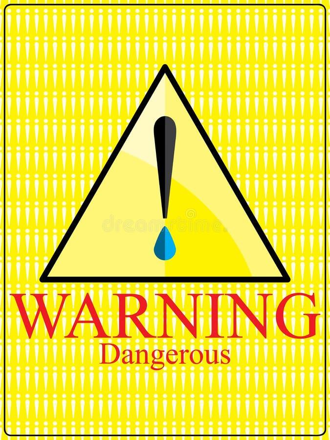 Signe dangereux d'avertissement de goutte pour les yeux illustration libre de droits