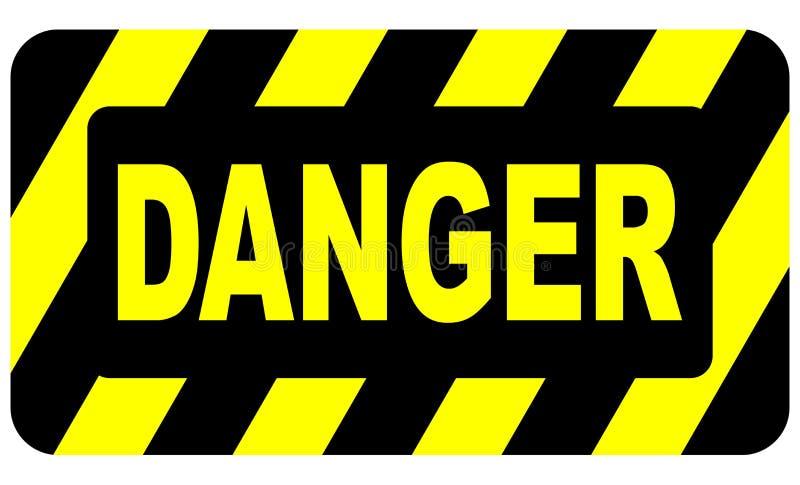 signe de 2 dangers illustration libre de droits