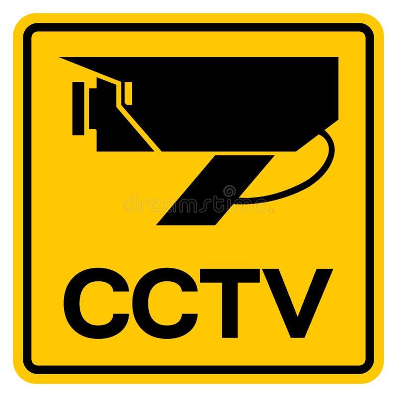 Signe de avertissement de symbole de télévision en circuit fermé, illustration de vecteur, isolat sur le label blanc de fond EPS1 illustration libre de droits