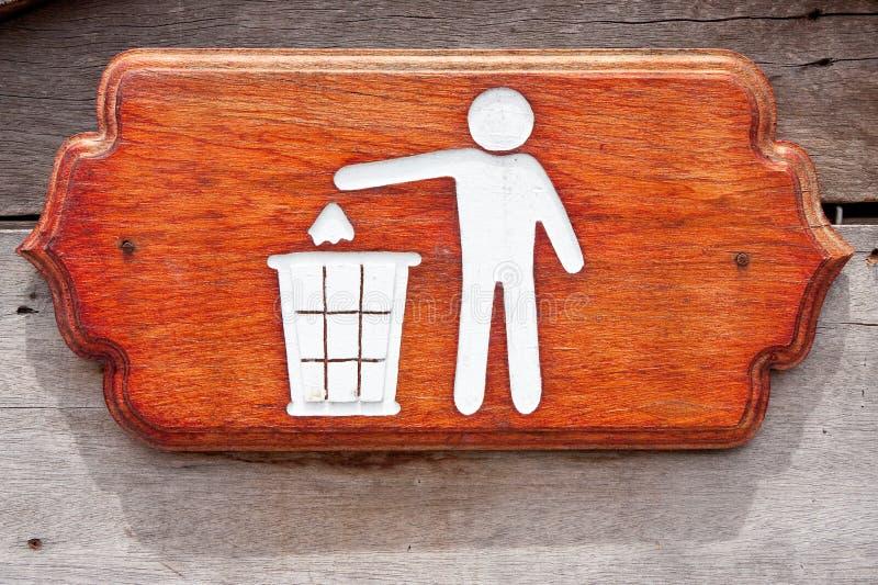 Signe de bac à ordures photos stock