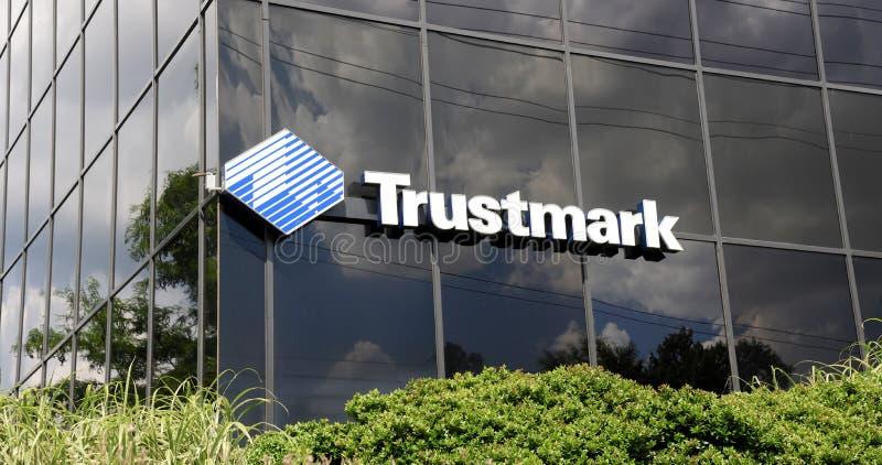 Signe de banque de Trustmark photographie stock libre de droits