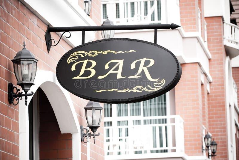 Signe de bar photos stock