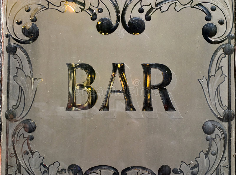 Signe de bar public. images stock