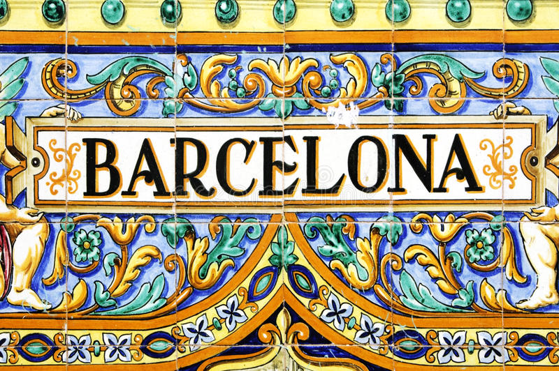 Signe de Barcelone photo stock