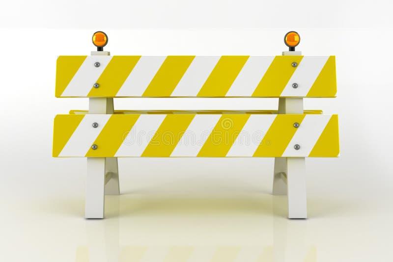 Signe de barricade de route illustration stock