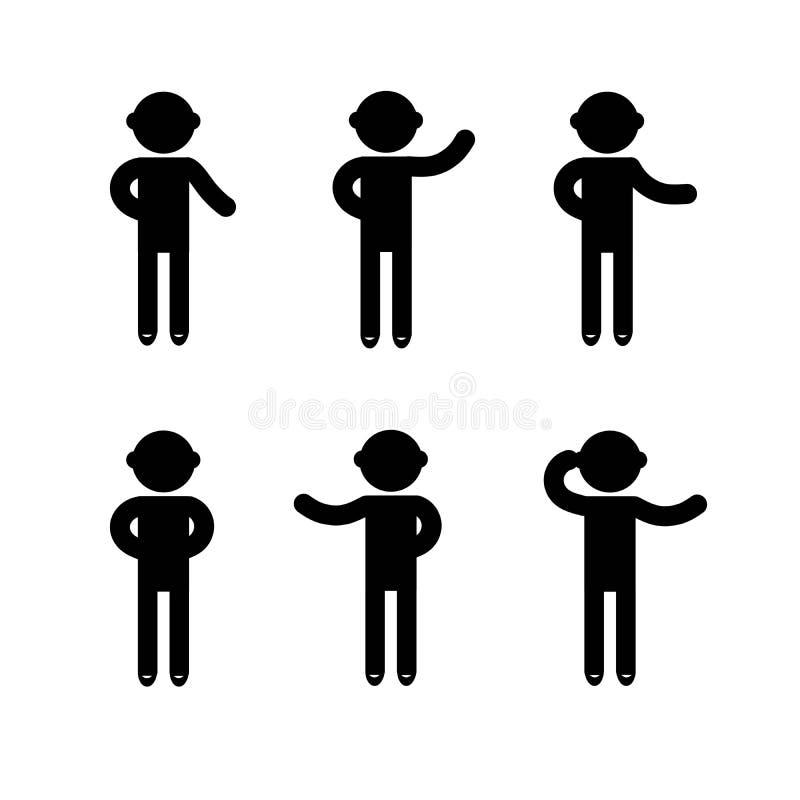 Signe de base d'icône de personnes de posture d'homme photo libre de droits