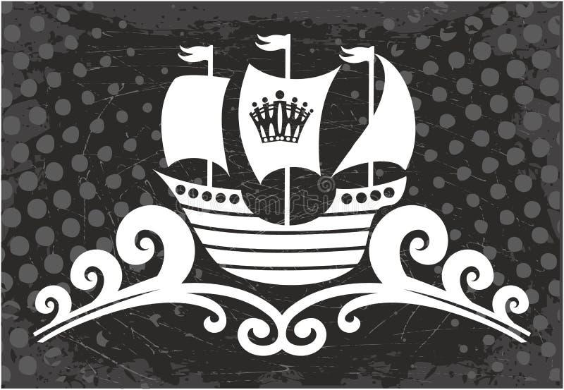 Signe de bateau d'océan illustration libre de droits