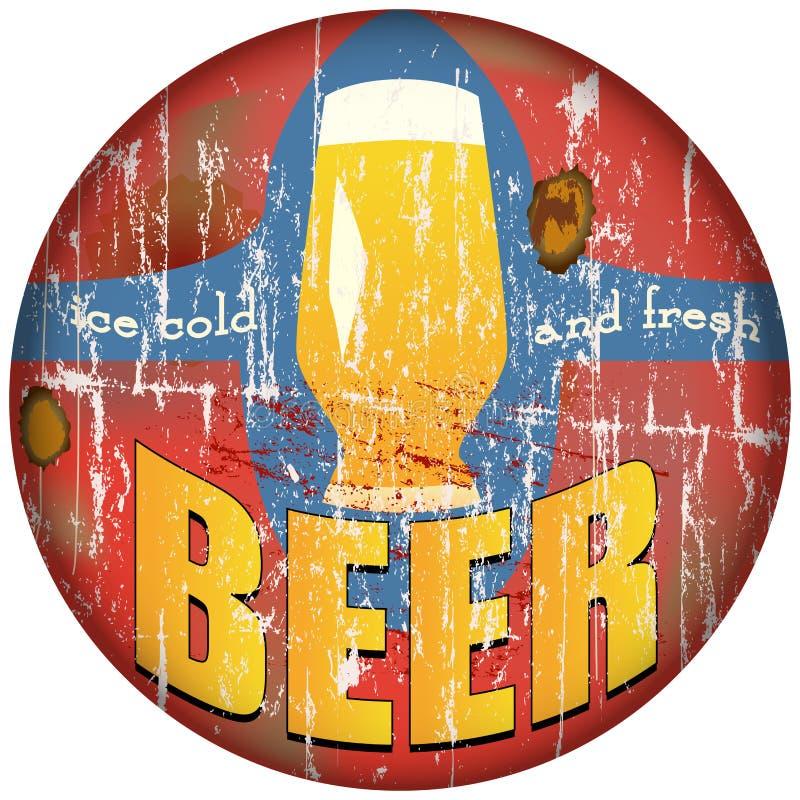 Signe de bière illustration libre de droits