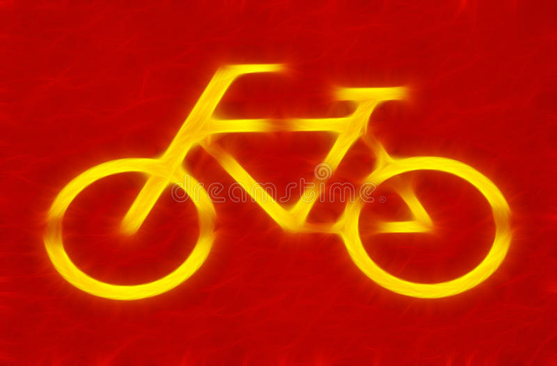 Signe de bicyclette photographie stock